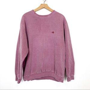 Vintage oversized sweatshirt faded purple pink top